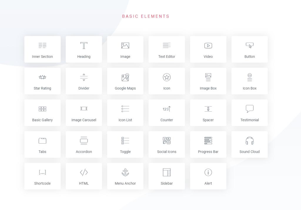 Elementor Basic Widgets